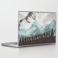 smaug Laptop & iPad Skins featuring The Desolation of Smaug by JadeJonesArt