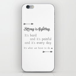 Strong Is Fighting iPhone Skin
