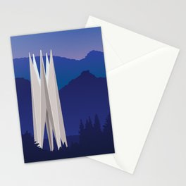 Soviet Modernism: Memorial for the 50th anniversary of Soviet Armenia in Dilijan Stationery Cards