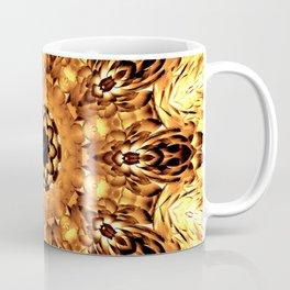 Yellow Brown Mandala Abstract Flower Coffee Mug