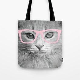 Hippest Cat 2 - Pink glasses Tote Bag