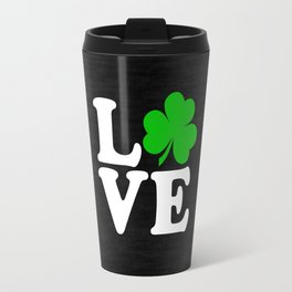 Love with Irish shamrock Travel Mug