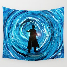 Doctor Inside Time Vortex Wall Tapestry