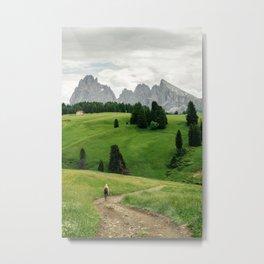 Mountain view in the Italian Dolomites Metal Print