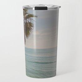 palm tree and ocean. California Vacation Travel Mug