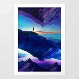Since the moment I left Purple Art Print