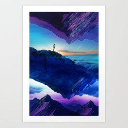 Since the moment I left Purple Art Print