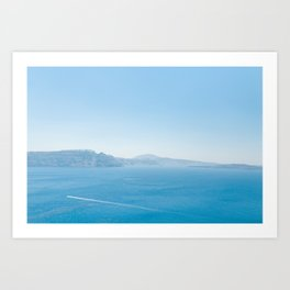 Santorini 0003: Aegean sea, Santorini, Greece Art Print