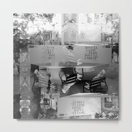Summer space, smelting selves, simmer shimmers. [extra, 9, grayscale version] Metal Print