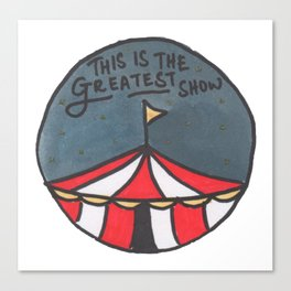 Greatest Show (Night) Canvas Print