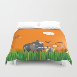 What's going on in the jungle? Kids collection Duvet Cover