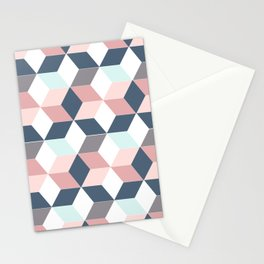 Starry cubes Stationery Cards