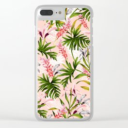 Tropical nature pattern Clear iPhone Case