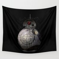 death star Wall Tapestries featuring BB8 Death Star by Daniac Design