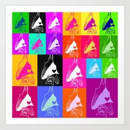 Rainbow Bat Montage Art Print