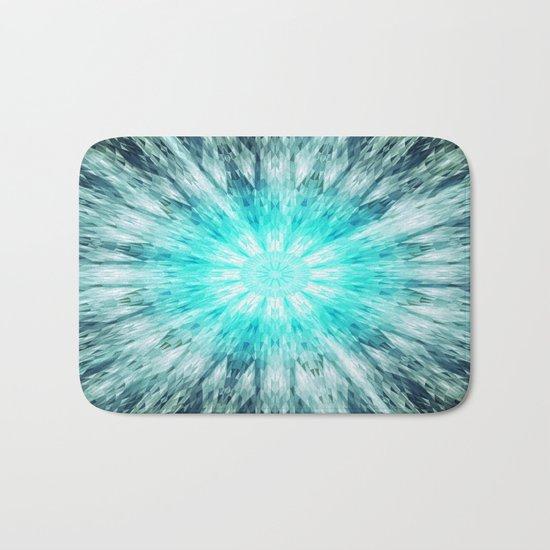 Teal Blue Mandala Bath Mat