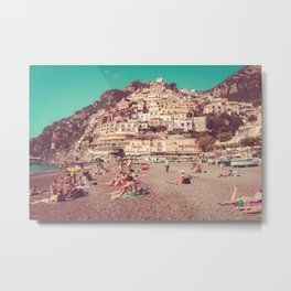 Vintage Italian Beach Metal Print