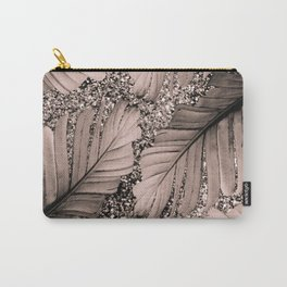 Banana Leaves Glitter Glam #3 #shiny #tropical #decor #art #society6 Carry-All Pouch