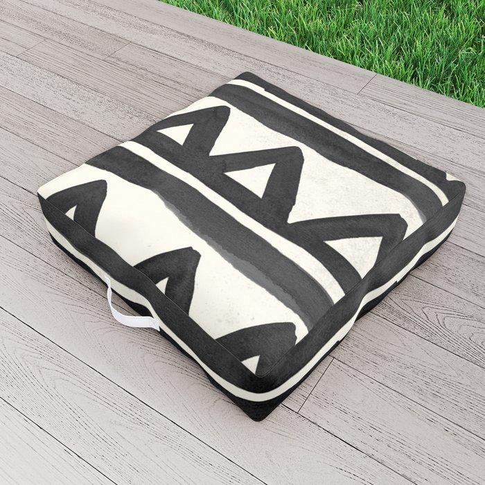 Chevron Tribal Outdoor Floor Cushion