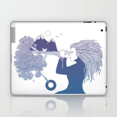Watching the World I Once Knew (The Night Sky's Point of View) Laptop & iPad Skin