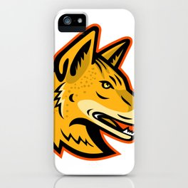 Arabian Wolf Head Mascot iPhone Case