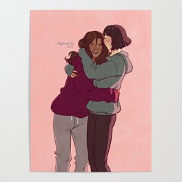 Girlfriends in hoodies Poster