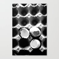 eggs Canvas Prints featuring  eggs by serena wilson stubson