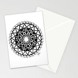 Love Heart Mandala Stationery Cards