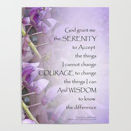 Serenity Prayer Wisteria Poster