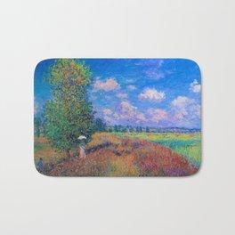 Poppy Field in Summer by Claude Monet Bath Mat