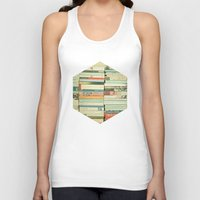 pretty Tank Tops featuring Bookworm by Cassia Beck