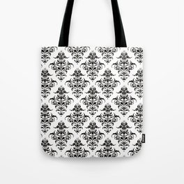 Damask Pattern | Black and White Tote Bag