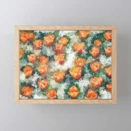 Field of Tulips Framed Mini Art Print