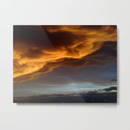 Clouds with a Story Sunset Metal Print