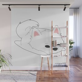 Samoyed Loaf Wall Mural