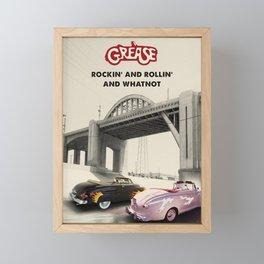 Grease car racing art Framed Mini Art Print