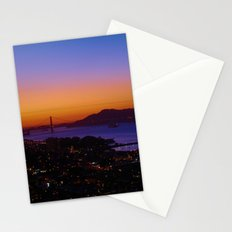 San Francisco Sunset - Golden Gate Bridge in the Background Stationery Cards