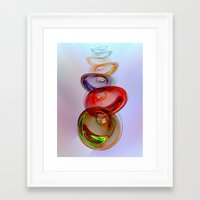 glass Framed Art Prints featuring Glass Effect by Klara Acel