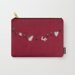 Christmas Decorations on Red (Color) Carry-All Pouch