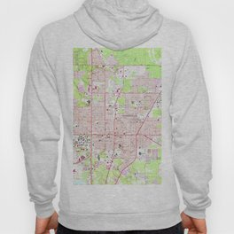 Vintage Map of Gainesville Florida (1966) Hoody
