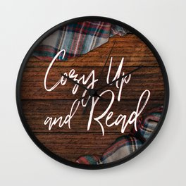 Cozy Up and Read Wall Clock