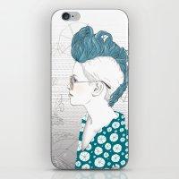punk iPhone & iPod Skins featuring Punk by katiwo