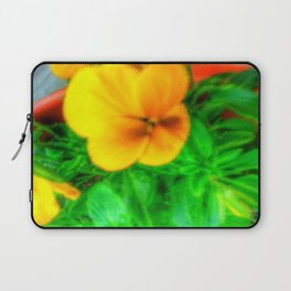 Yellow Viola Laptop Sleeve