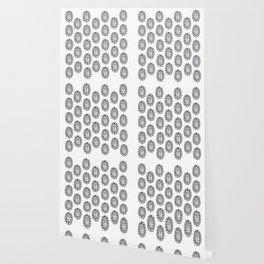 Ancient Egyptian Amulet Pattern Black & White Wallpaper