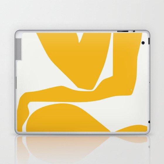 Yellow anatomy Laptop & iPad Skin
