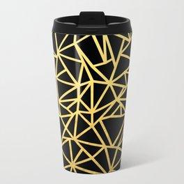 Abstract Outline Thick Gold Metal Travel Mug