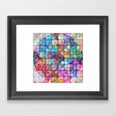 Circles in circles Framed Art Print