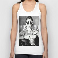 moschino Tank Tops featuring Moschino Glasses by Claudio Velázquez