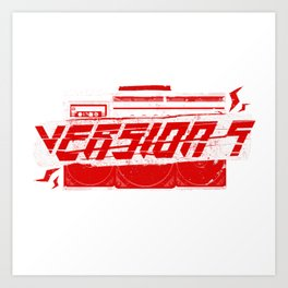 [v5] Ghetto Blaster Art Print