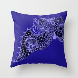 Royal Peacock Throw Pillow